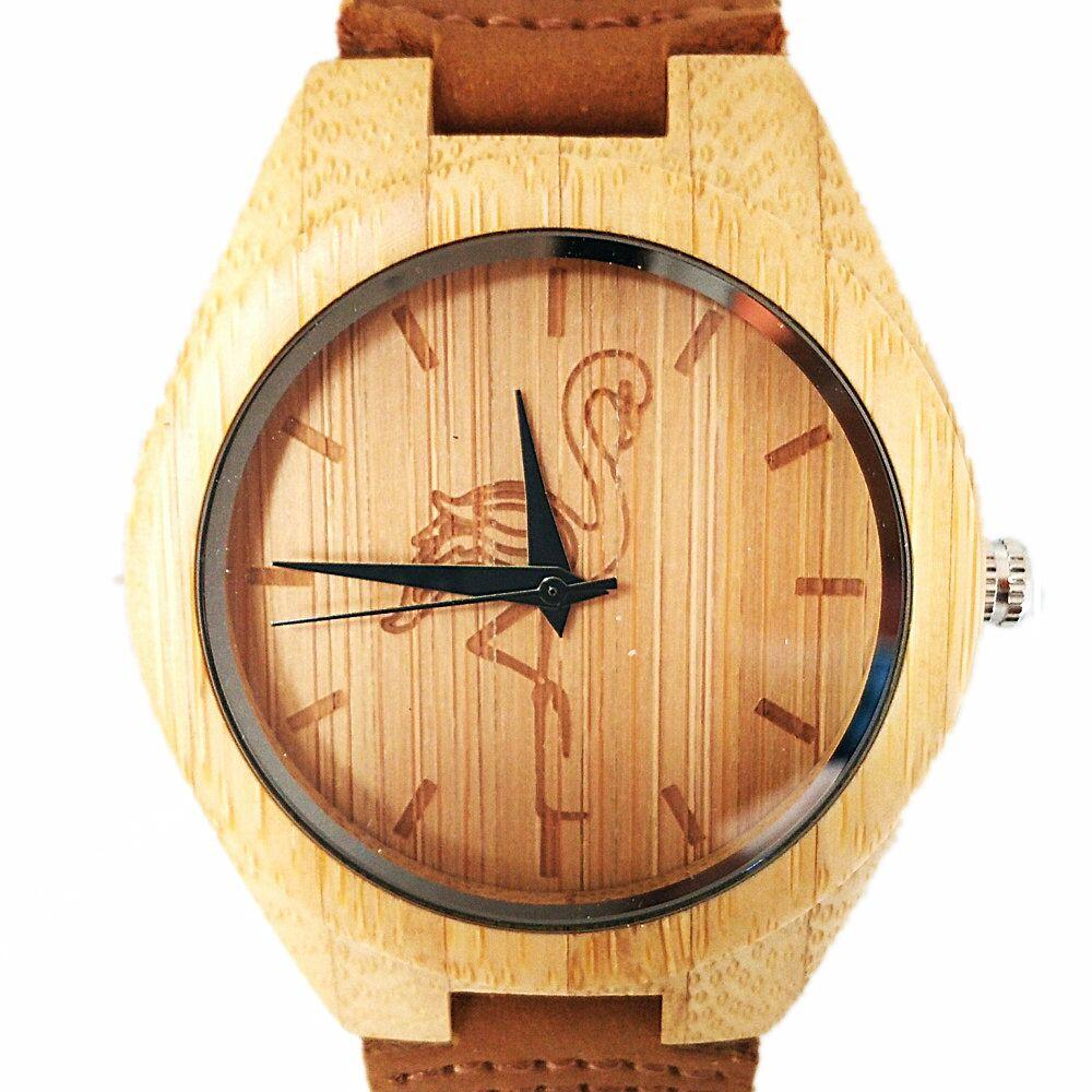 Dames-horloges Bamboo Wood quartz dameshorloges Analoge casual mode - Dameshorloges - Foto 3