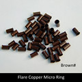 3000pcs Flare Copper Micro Ring / Links / Tube for Feather Hair / Stick Tip / I Tip Hair Extension