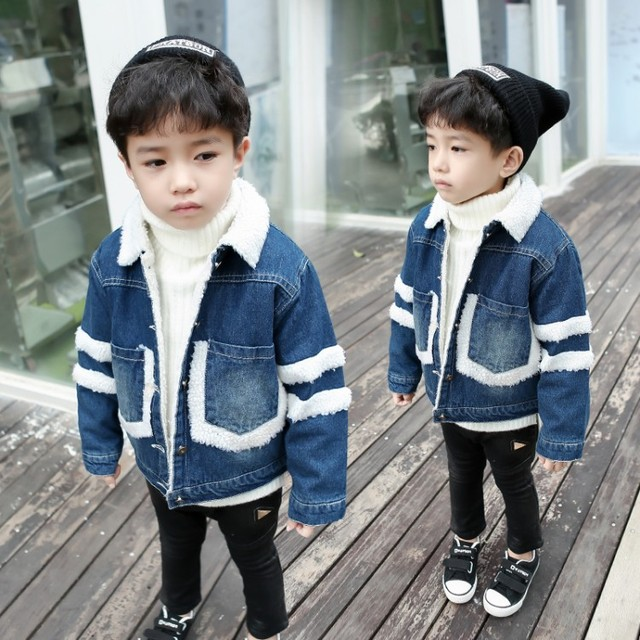 9c4c9c6f5 new fashion baby Jean jacket boys girls thicken autumn winter ...