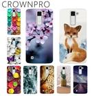CROWNPRO Soft TPU FOR Capa LG K10 Case Cover FOR LG K10 LTE K420N K430 K430DS Painted Phone Back Protective Case FOR LG K10 2016