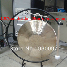 """high quality brass gong ! 100% handmade chinese traditional 12"""" opera  GONG+stand"""