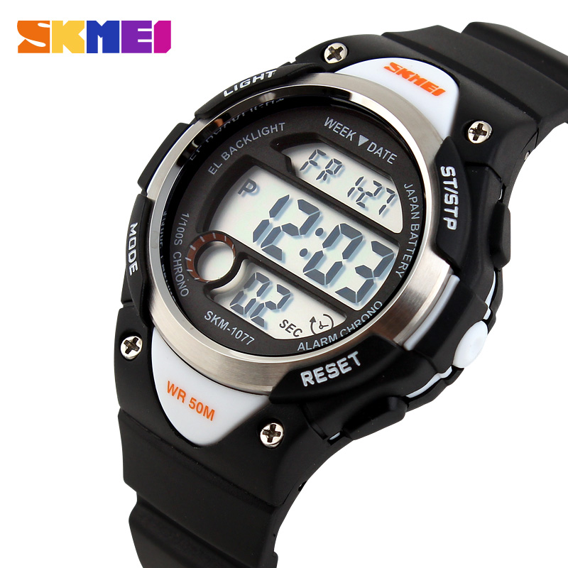 SKMEI Sport Student Children Watch Kids Watches Boys Girls Clock Child LED Digital Wristwatch Electronic Relogio Feminino 1077