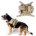 2016 Army Tactical Dog Vests Outdoor Military Dog Clothes Load Bearing Harness SWAT Tactical Dog Training Molle Vest Harness