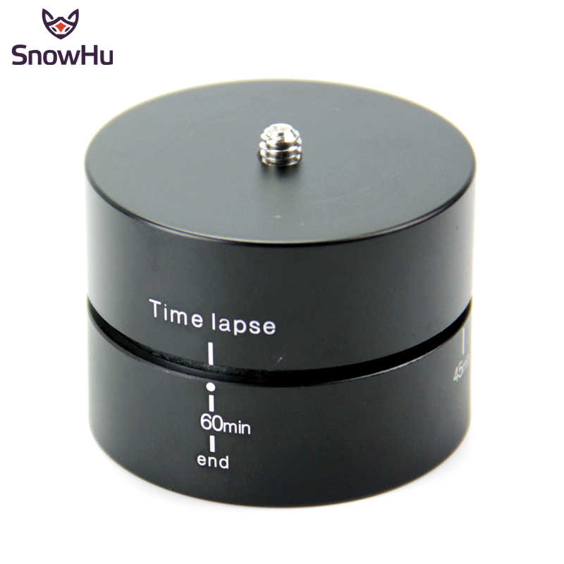 SnowHu For 360 Degrees 60min Panning Rotating Time Lapse Stabilizer Tripod for Go Pro Hero 8 7 6 5 for Xiaomi Yi 4K sjcam GP247A