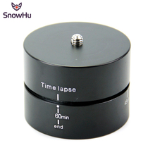 SnowHu For 360 Degrees 60min Panning Rotating Time Lapse Stabilizer Tripod for Go Pro Hero 7 6 5 4 Xiaomi Yi 4K sjcam GP247A
