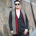 Hot 20 Colores de Invierno Diseñador Hombres Bufanda de Algodón A Cuadros con Rayas Marca Bufanda Del Abrigo Del Mantón de Punto de Cachemir de Rayas Bufanda Con Borlas