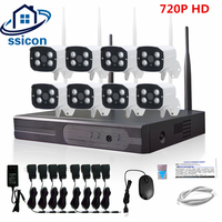 SSICON 8CH Home Plug And Play Wireless Video Surveillance System HD 720P Outdoor WIFI Network Security