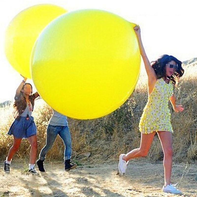 stora bollar 36 tum Klara ballonger globos bröllop dekoration stora latex ballong födelsedagsfest dekorationer vuxna fest ballonger