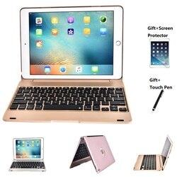 Folding Laptop Wireless Bluetooth Keyboard Cover Case For iPad Pro 9.7 inch iPad Air 1 2 New iPad 2017 2018 9.7 keyboard Case