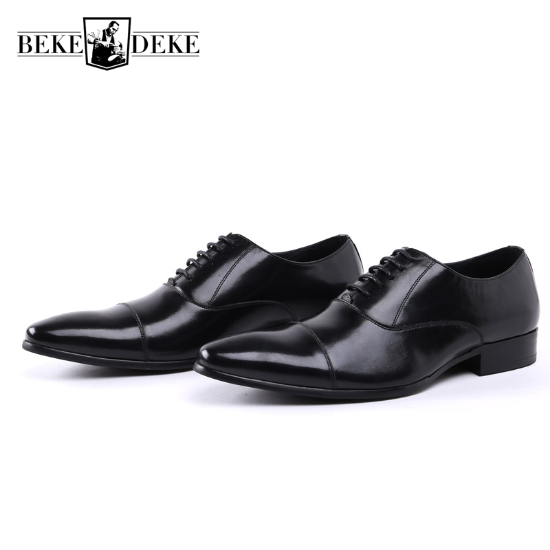 Pointed Toe Fashion Winter Men Formal Shoes Genuine Leather Cow Lace Up Dress Shoes Wedding Shoes Male Business Work Shoes new 2018 fashion men dress shoes black cow leather pointed toe male oxfords business shoes lace up men formal shoes yj b0034 page 1