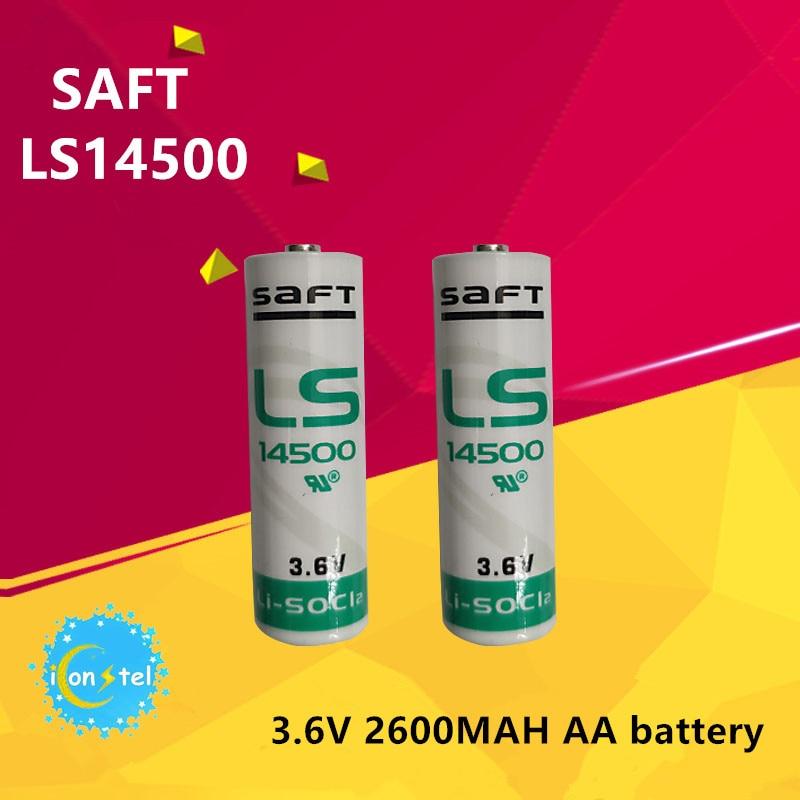 iconstel 10pcs SAFT LS14500 battery 3.6V 2600MAH AA Batteries Original Water meter Watt hour meter PLC lithium LiSO2 battery