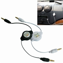 Stereo 3.5mm to 3.5 Jack Car Audio Flexible Extension Cable Male Retractable Aux Music Line for iphone plus Samsung Sony Xiaomi