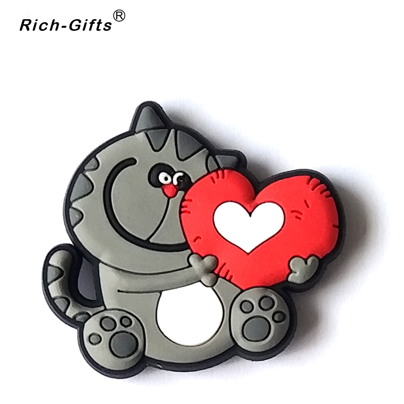Valentine's Day custom Love Logo cartoon soft rubber Promotional Gifts for refrigerator Magnets decoration stickers(RC-RE-005)