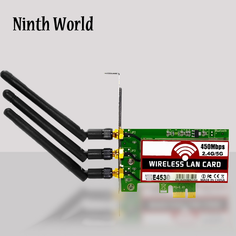 802,11 B/g/n 450 Мбит/с беспроводной Wi-Fi PCI-Express адаптер, настольная карта для Intel 5300 совместимый разъем PCI-E X1/X4/X8/X16