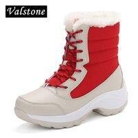 Valstone 2017 NEW Winter Velvet Shoes Women Breathable Waterproof Platform Sneakers Warm Snow Boots Anti Skid