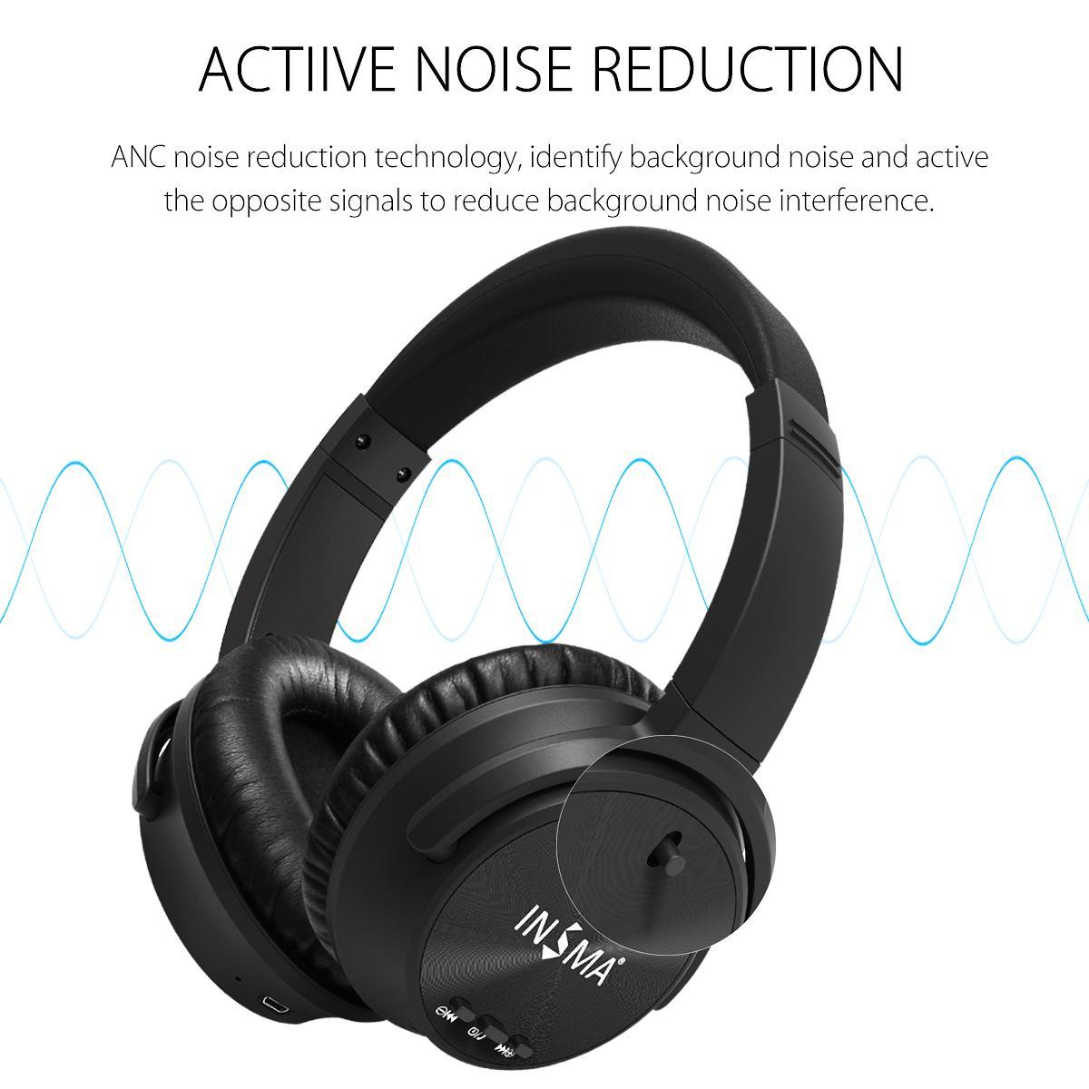 cancelamento ruído ativo sem fio fones de
