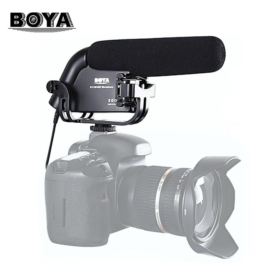 BY-VM190 Video Broadcast Directional Condenser Mini Gun Microphone Prosumer Interview 3.5mm MIC Jack For Canon Nikon DSLR Camera joyo i mic portable mini condenser microphone