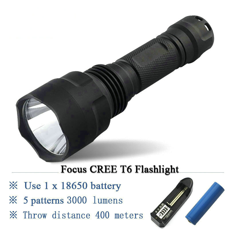 1 mode 5 mode T6 L2 Tactical flashlight led cree XML T6 XM-L2 torch led Waterproof flash light 18650 Rechargeable battery