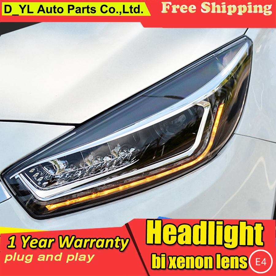 DY LCar Styling Headlights For Chevrolet Cruze 2015 2016 LED Head Lamp LED Daytime Running Light
