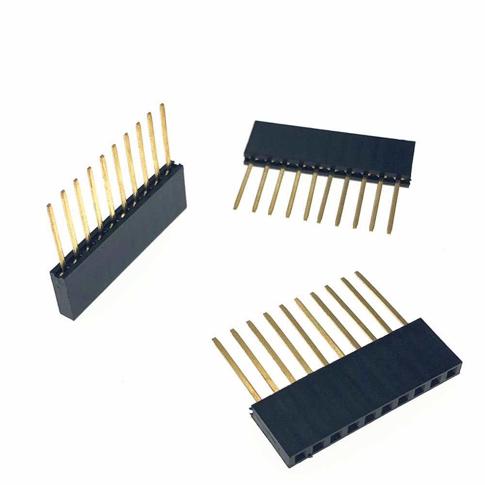 10pcs Female Header Connector 11mm PC104 8Pins Long Female Header Connector 2.54MM Spacing For Arduino