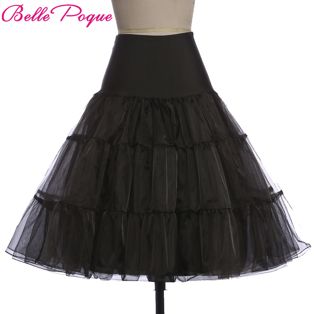 New Skirt Silps Rockabilly Tutu Petticoat Crinoline Underskirt Ball Fluffy Pettiskirt Princess For Wedding Bridal Vintage