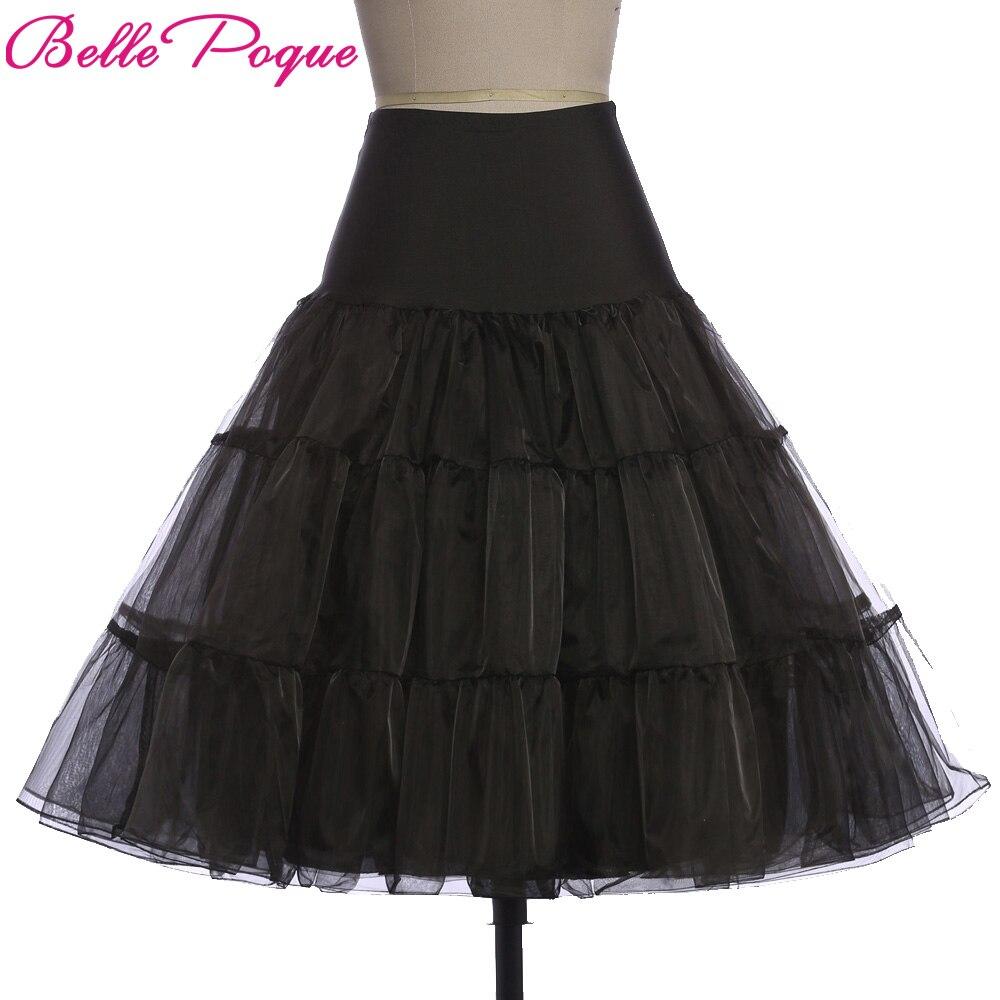 Ladies Skirt Silps Swing Rockabilly Petticoat Underskirt Crinoline Fluffy Pettiskirt For Wedding Bridal Retro Vintage Women Gown