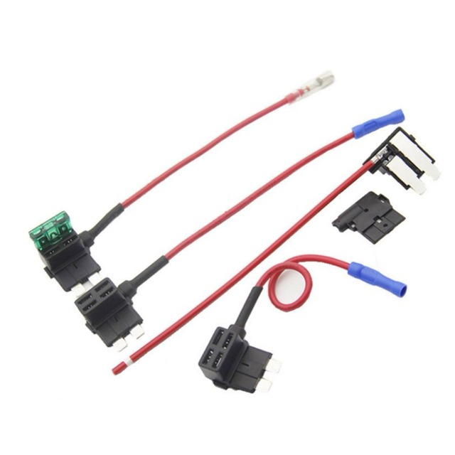 12v add a circuit standard mini micro blade fuse boxes holder ato atc  piggyback fuse tap with 20a blade fuse