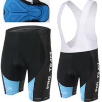Xintown Team Men Cycling Bike Bicycle (Bib) Shorts With Padded S-4XL Black/Blue CC0320