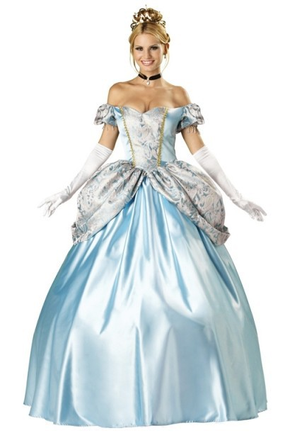 Classic Cinderella Ball Gown Costume With Full Structured Petticoat Embroidered Bodice And Skirting And Gloves Costume Head Costume Mengown Corset Aliexpress