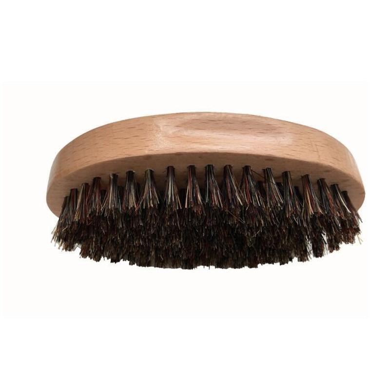 Blank Men Boar Bristle Beard Brush Oval Beech Wood Handle Mustache Brushes