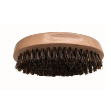 Blank Men Boar Bristle Beard Brush Oval Beech Wood Handle Mustache Brushes