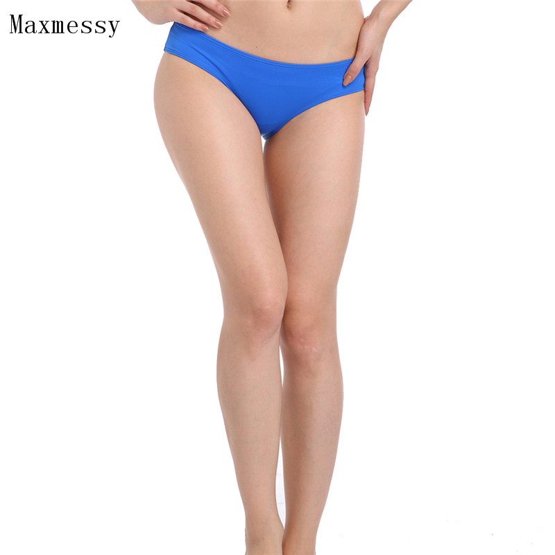Maxmessy Bikini Bottoms Thong Swimwear Summer Sexy Swimsuit Women Bathing Suit Beach Wear Swimming Briefs Shorts S-3XL MC238