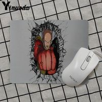 Yinuoda 2018 New One punch man Gamer Speed Mice Retail Small Rubber Mousepad Keyboard Mat Table mat anime mouse pads 1