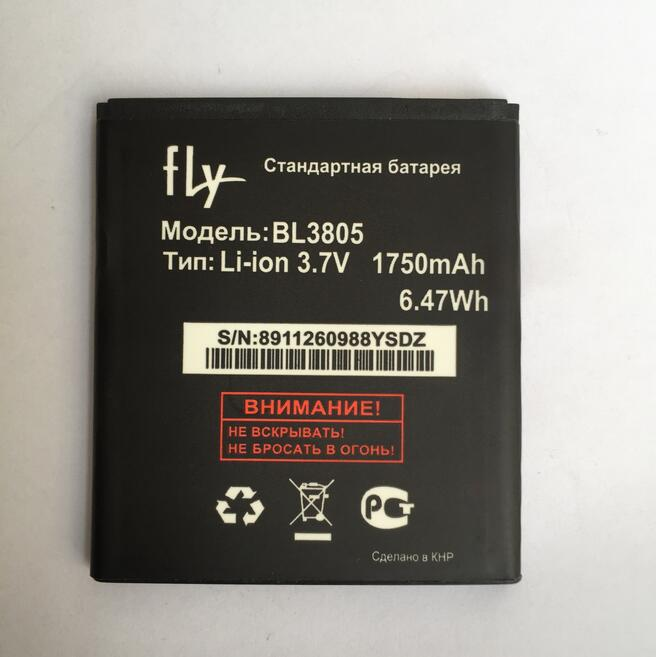 For FLY IQ4402 IQ4404 BL3805 cell Phone Batteria Newest Arrival 100% New Retail Li-ion Battery 1750mAh For FLY bl3805 BL 3805