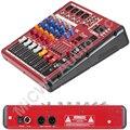 Профессиональная студия Аудио Микрофон миксер система миксер консоль караоке Bluetooth USB Запись PC 48v живой миксер