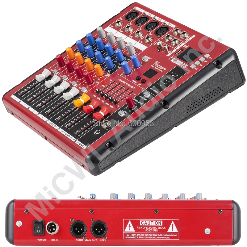 Professional Studio Audio Microphone Mic Mixer System Mixer Mixing Console Karaoke Bluetooth USB PC Record 48v Live Mixer professional 4 channel live mixing studio audio sound console network anchor portable mixing device vocal effect processor