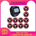 Retekess 433 МГц Беспроводная система вызова официанта вызова пейджер часы приемник T128 + 10 шт. кнопка вызова T117 ресторанное оборудование