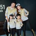 Семья одежда мать и дочь соответствующие одежда отец и сын одежда семья установить семья стиль комплектов одежды, Pri01