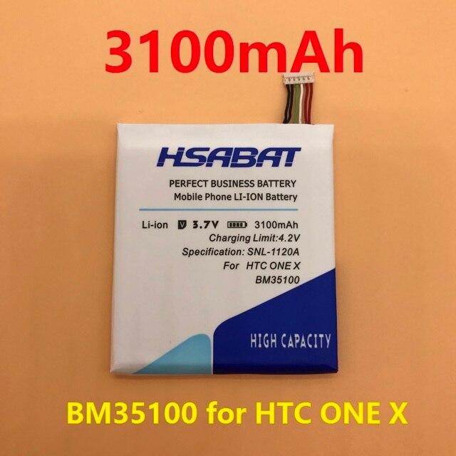 HSABAT Newest 3100mAh BM35100 BJ83100 Battery Use for HTC One X S720e / One S Z520e