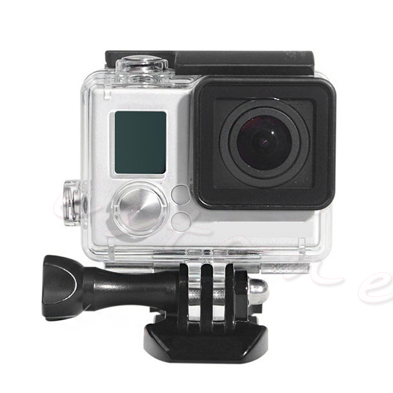 Go pro Accessories Gopro Waterproof Housing Case Mount Hero 3 plus for Gopro Hero3+ 3 4 Camera Mounting High Quality go pro hero 4 3 accessories metal alloy protective case cover housing shell lens cover for gopro hero 43 camera accessories