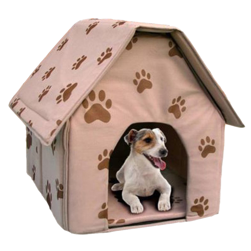 Comfortable Durable Portable Folding Dog House Cat Bed For Puppy With Unique Cute Little Footprint Pet Supply