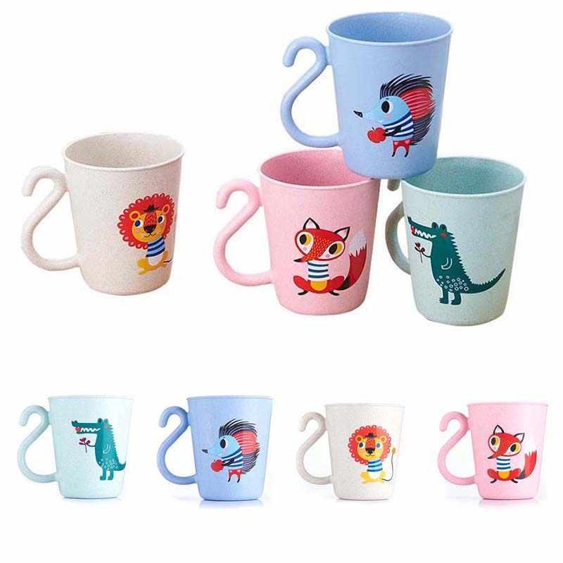 2 предмета в комплекте; креативное милое Пластик животных чашка для кофе с молоком с изображением мультипликационных персонажей для детей мыть чашки чашка держатель для зубной щетки ПП кружка для полоскания Ванная комната наборы для ухода за кожей