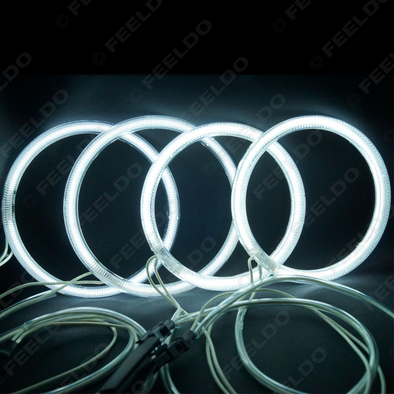 FEELDO 4 Pcs/ensemble Super Blanc En Option Lumineux CCFL Angel Eyes Halo Anneaux Kit Pour Lada Priora (VAZ 2170/2171/2172) # FD-4281