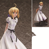 24cm Japanese anime figure Fate/stay night SaberArturia and Altria British trip ver action figure collectible model toys
