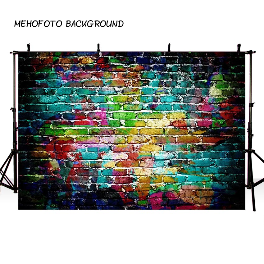 MEHOFOTO Vintage Abstract Brick Wall Photography Backdrops Wood Floor Children Photo Background Custom for Photo Studio F-3255 mehofoto 5x7ft thin vinyl children photography background custom christmas photo backdrops for photo studio s 2105
