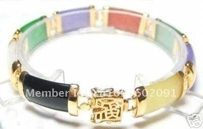 6 шт. Лидер продаж! Ювелирные изделия многоцветная ссылка благословенный браслет 7,5 дюйма