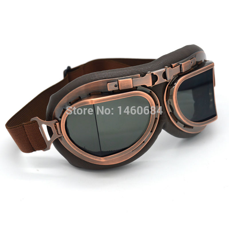 evomosa Vintage Motorcycle Glasses Motorcycles Glasses for Motocross off-road ATV Pilot Glasses Sports Glasses Snowboard Bikes glasses black A