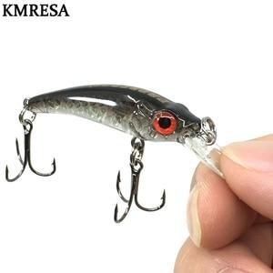 Image 1 - 1 sztuk Mini wobbler Jerkbait 6cm/3.5g laserowa twarda przynęta Minnow przynęty wędkarskie crankbait hook Bass świeże słonowodne tackle tonący