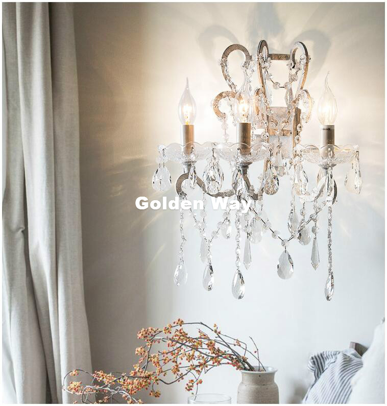 Free Shipping Silver/Golden Brush AC Crystal American Style Wall Light Lamp Bedroom Home Wall Sconce Lighting 100% GuaranteedFree Shipping Silver/Golden Brush AC Crystal American Style Wall Light Lamp Bedroom Home Wall Sconce Lighting 100% Guaranteed