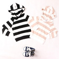 2016 spring autumn baby girls boys striped cotton hoody fashion sweatshirts jumpers